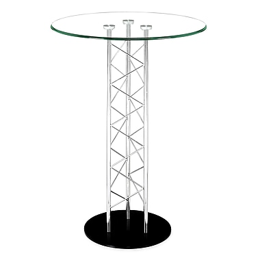 Zuo® Chardonnay 31in. Tempered Glass Bar Table, Clear