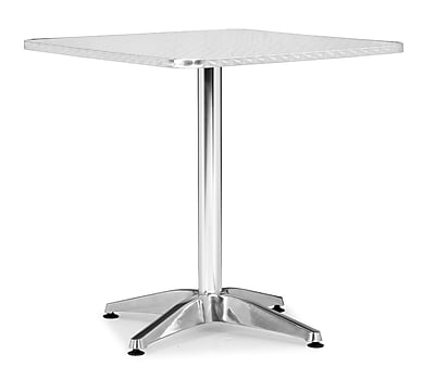 """""Zuo 27 1/2"""""""" x 27 1/2"""""""" Aluminum Christabel Square Table"""""" 223390"