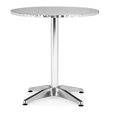 ZuoMD – Table ronde en aluminium Christabel, 27,5 x 27,5 po