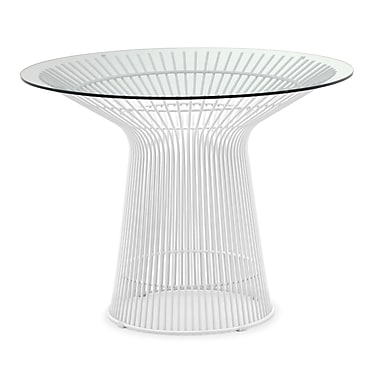 Zuo® Wetherby 39 1/2in. Glass Dining Table, White