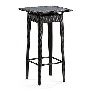 Zuo® Railay 23.3in. x 23.3in. Synthetic Weave Pub Table, Espresso