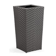 Zuo® Cancun Synthetic Weave Tall Planter, Espresso