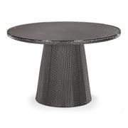 "Zuo® 47.3"" x 47.3"" Tempered Glass Avalon Table, Espresso"