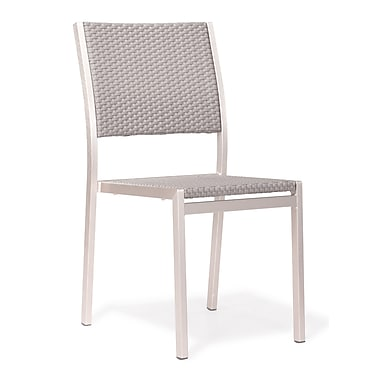 Zuo Metropolitan Dining Chair, Brushed Aluminum