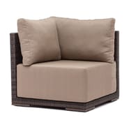 Zuo® Fabric Park Island Corner Chair, Brown