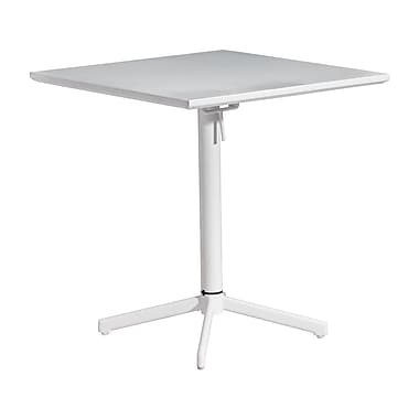 Zuo® Epoxy Coated Steel Big Wave Folding Square Table, 29 1/2