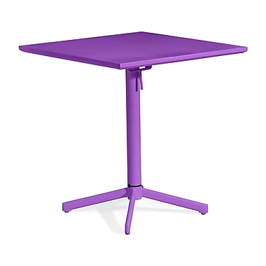 Zuo® 29 1/2in.(H) x 27.6in.(W) x 27.6in.(D) Epoxy Coated Steel Big Wave Folding Square Table, Purple