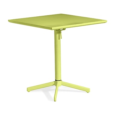 Zuo® 29 1/2in.(H) x 27.6in.(W) x 27.6in.(D) Epoxy Coated Steel Big Wave Folding Square Table, Lime