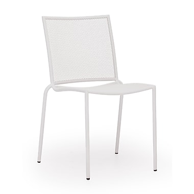 Zuo® Steel Repulse Bay Chairs, White, 4/Pack
