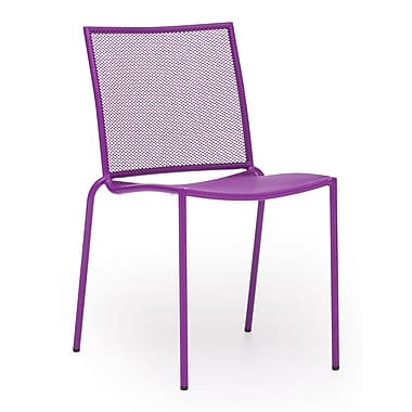 Zuo® Steel Repulse Bay Chairs, Purple, 4/Pack
