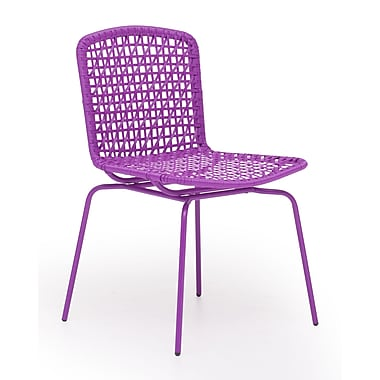 Zuo® Steel Silvermine Bay Chairs, Purple, 4/Pack