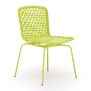 Zuo® Steel Silvermine Bay Chairs, Lime