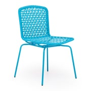 Zuo® Steel Silvermine Bay Chairs, Aqua