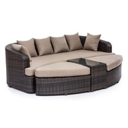 Zuo® Aluminium Cove Beach Lounge Set, Brown