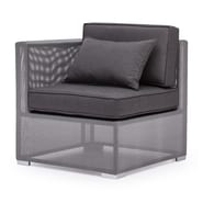 Zuo® Clear Water Bay Corner Chair, Gray