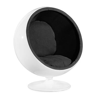 Zuo® Micro Fiber MIB Lounge Chair, Black