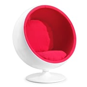 Zuo® Micro Fiber MIB Lounge Chair, Red