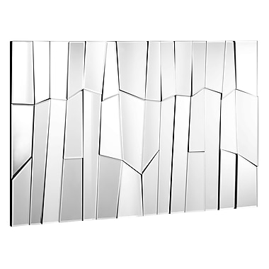 Zuo® Glacier 47 1/2in. x 32in. Hanging Mirror, Clear