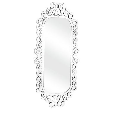 Zuo® Shiva 38in. x 82 1/2in. Hanging Mirror, Clear