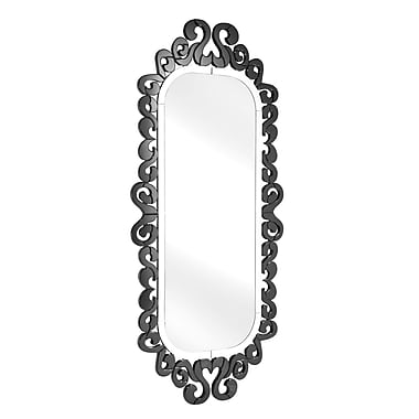 Zuo® Shiva 38in. x 82 1/2in. Hanging Mirror, Black