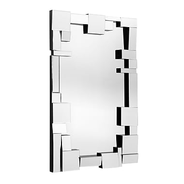 Zuo® Construct 31 1/2in. x 49.6in. Hanging Mirror, Clear
