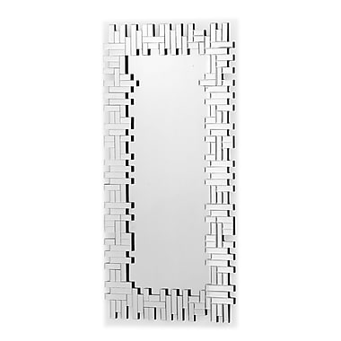 Zuo® Shard 22.6in. x 47in. Hanging Mirror, Clear