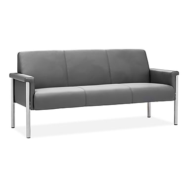Zuo® Leatherette Baton Sofa, Gray