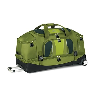 High Sierra EV204 34in. Drop-Bottom Wheeled Duffel Amazon Green