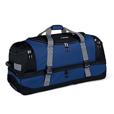 High Sierra AT102 36in. Drop-Bottom Wheeled Duffel Nightfall