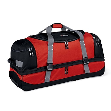 High Sierra AT102  36in. Drop-Bottom Wheeled Duffel Fire Red