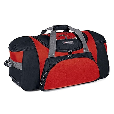 High Sierra AT145  26in. Wheeled Duffel W/ Backpack Straps Fire Red