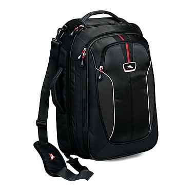 High Sierra AT607  Carry-On TravEL Bag W/ Backpack Straps Black Red