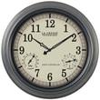 La Crosse Technology WT-3181P Metal Analog Wall Clock, Gray