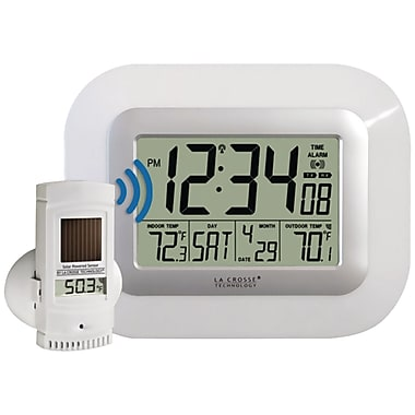 LA Crosse Technology® WS-811561-W Atomic Digital Wall Clock