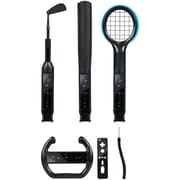 CTA® WI-6K Grand Slam 6-in-1 Sports Pack for Nintendo Wii, Black