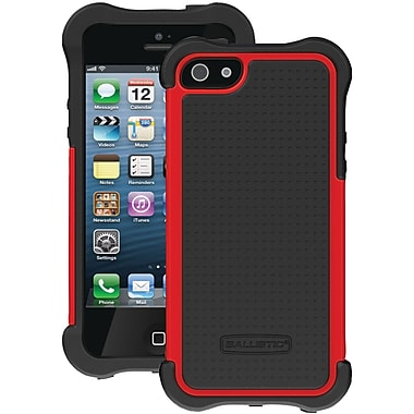 Ballistic® SG Maxx Case With Holster For iPhone 5, Black/Red