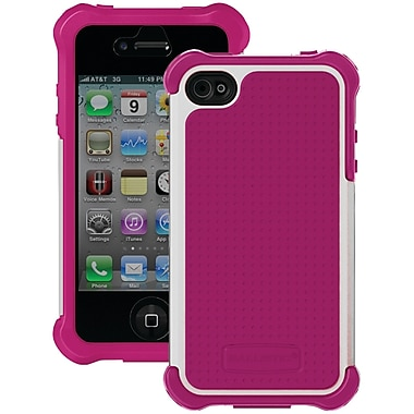 Ballistic® SG MAXX Series Case For iPhone 4/4S, Pink/White