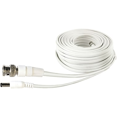 Swann SWPRO-60MFRC-GL 200' Fire-Rated BNC Extension Cable, White