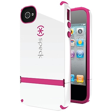 Speck® Candyshell Flip Case For iPhone 4s, White/Raspberry