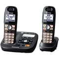 Panasonic KX-TG6592T Cordless Amplified Phone with 2 Handsets, 50 Name/Number, Black Metallic