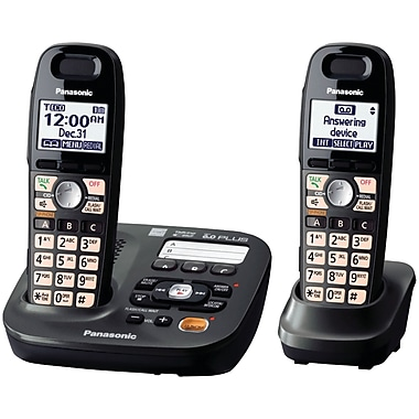 Panasonic® Kx-TG6592T Cordless Amplified Phone With 2 Handset, 50 Name/Number