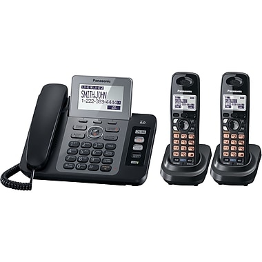 Panasonic® Kx-TG9472B 2 Line Expandable Digital Answering System, Black