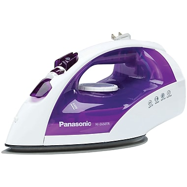 Panasonic® 1200 W Steam/Dry Iron With Titanium Non-Stick Coated Curved Soleplate