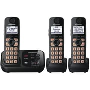 Panasonic® Kx-TG4733B Digital Cordless Telephone With 3 Handsets, 50 Name/Number