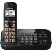 Panasonic® Kx-TG4741B Digital Cordless Telephone With 1 Handset, 70 Name/Number