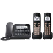 Panasonic® Kx-TG4772B Digital Cordless Telephone With 1 Corded and 2 Cordless Handset