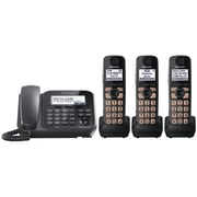 Panasonic® Kx-TG4773B Digital Cordless Telephone With 1 Corded and 3 Cordless Handset