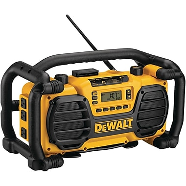 DeWalt® DC012 Worksite Radio With Built In Charger, 1 hr