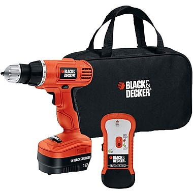 Black & Decker® GCO12SFB 12V Drill/Driver with Stud Sensor and Storage Bag