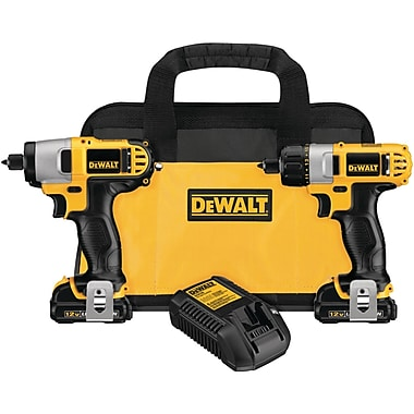 DeWalt® DCK210S2 12 V Max Screwdriver And Impact Driver Kit